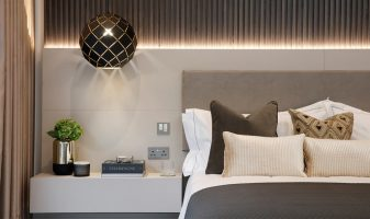 A bespoke headboard, for the WOW factor