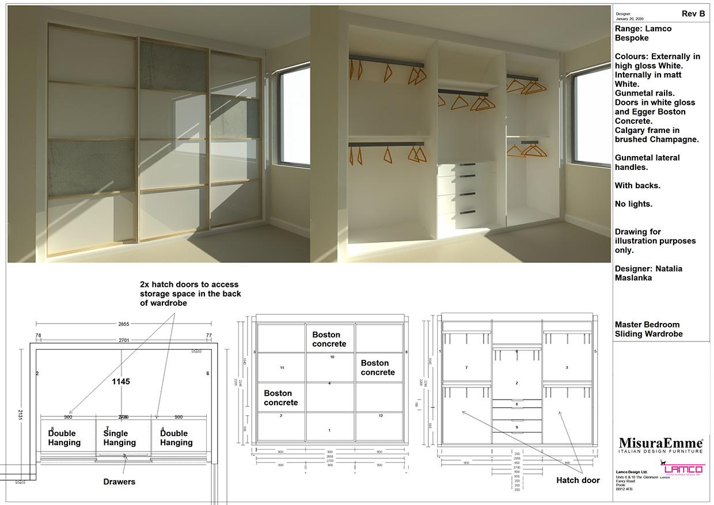 Bespoke Sliding Door Wardrobe Plans
